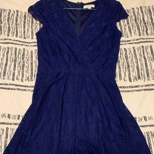 Navy lace romper, like new!!